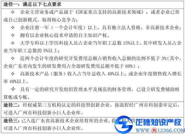 广州申请项目代办科技创新小巨人企业